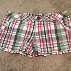 Arizona Green, Hot Pink, & White Plaid Shorts 5